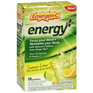 Emergen-C Energy+ Lemon Lime Drink Mix Packets