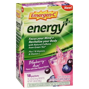 Emergen-C Energy+ Blueberry Acai Drink Mix Packets