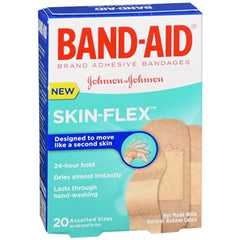 Buy Band-Aid Skin-Flex, Assorted Sizes online used to treat Adhesive Bandages - Medical Conditions