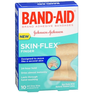 Buy Band-Aid Skin-Flex, Finger Bandages online used to treat Adhesive Bandages - Medical Conditions