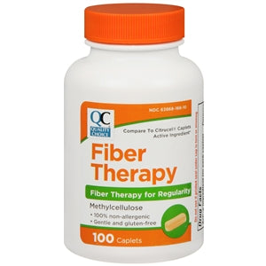 Quality Choice Fiber Therapy Capsules - 100 CT - Fiber Supplement - Mountainside Medical Equipment