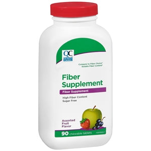 Quality Choice Natural Fiber Chewable Supplement - Fruit Flavored & Sugar Free - Fiber Supplement - Mountainside Medical Equipment