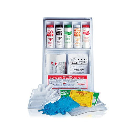 Complete Spill Containment Kit, Wall Mounted - Spill Cleanup Kit - Mountainside Medical Equipment