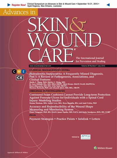 Buy Advances in Skin & Wound Care Journal for Prevention and Healing online used to treat Wound Care - Medical Conditions