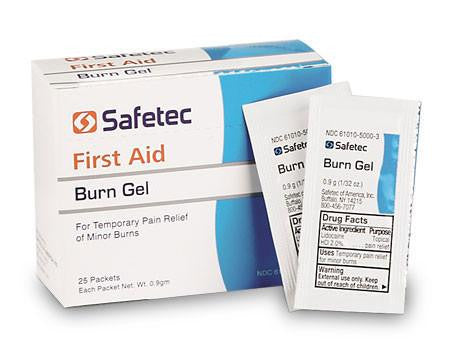 Safetec Burn Gel Packets 25/box