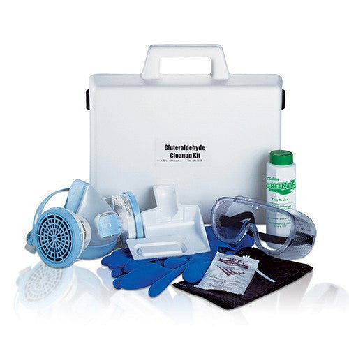 Safetec Glutaraldehyde Clean-Up Kit with Hard Case - Spill Cleanup Kit - Mountainside Medical Equipment