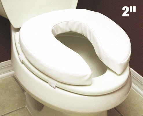 Buy Essential Padded Raised Toilet Seat 2 inch used for Raised Toilet Seats by Essential