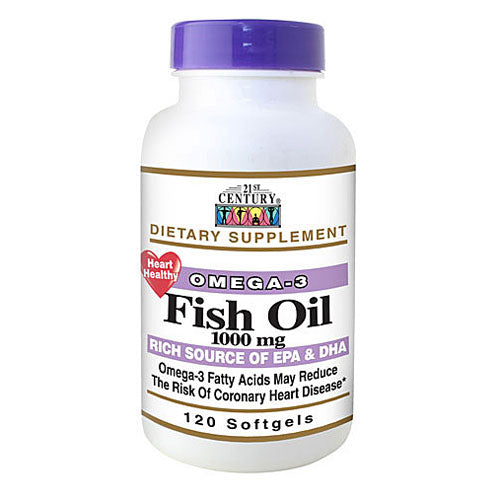 21st Century Fish Oil Omega 3 Heart Health Supplement