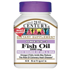 Buy Omega 3 Fish Oil 1000 mg  (90 Count) by 21st Century online | Mountainside Medical Equipment