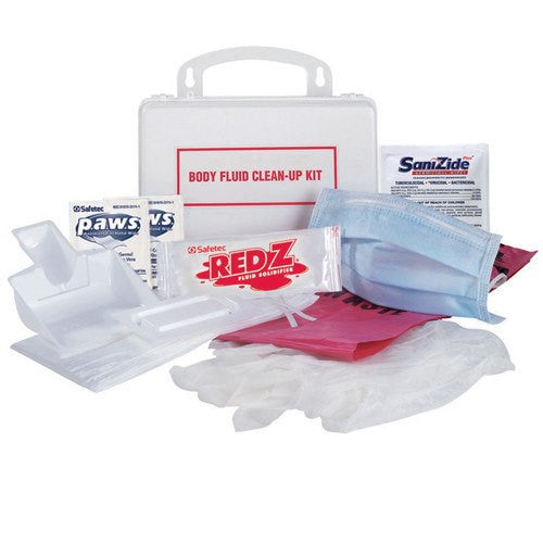 Safetec Body Fluid Clean-up Kit with Hard Case - Spill Kits - Mountainside Medical Equipment