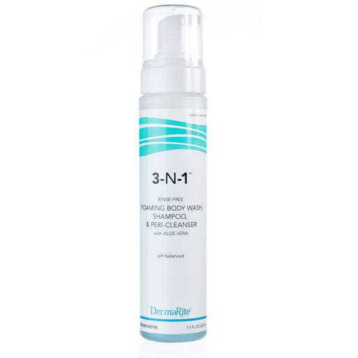 3-N-1 Foaming Body Wash, Shampoo, Peri Cleanser with Aloe Vera - Body Wash - Mountainside Medical Equipment