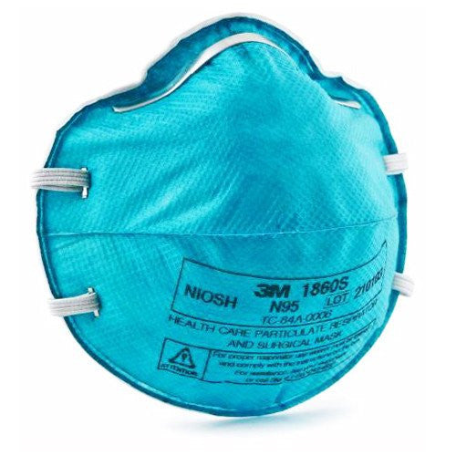 3M 1860S N95 Particulate Respirator Surgical Mask, Small 20/Box - Particulate Respirator Mask - Mountainside Medical Equipment