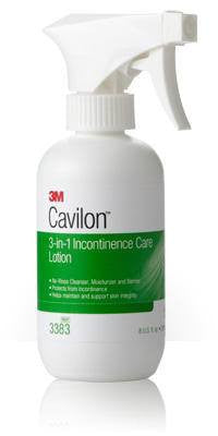 Cavilon 3-in-1 Incontinence Care Lotion 8 oz Spray Bottle