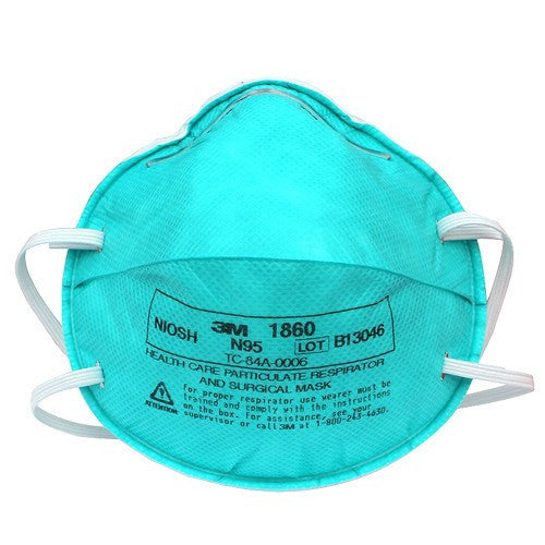 3M 1860 Molded N95 Particulate Respirator Masks 20/Box