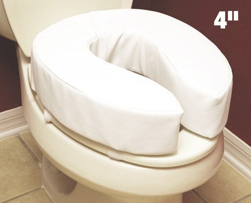 Buy Essential Padded Raised Toilet Seat 4 inch by Essential from a SDVOSB | Raised Toilet Seats