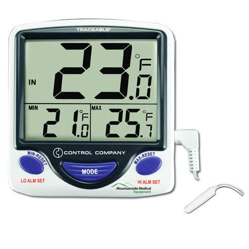 Traceable Jumbo Refrigerator / Freezer Thermometer - Refrigerator Thermometers - Mountainside Medical Equipment