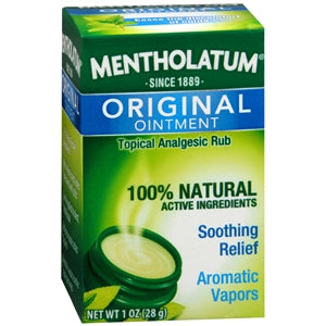 Mentholatum Ointment, 1 oz Jar - Cold & Sinus Relief - Mountainside Medical Equipment