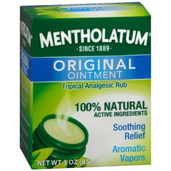 Buy Mentholatum Ointment, 3 oz Jar online used to treat Cold & Sinus Relief - Medical Conditions