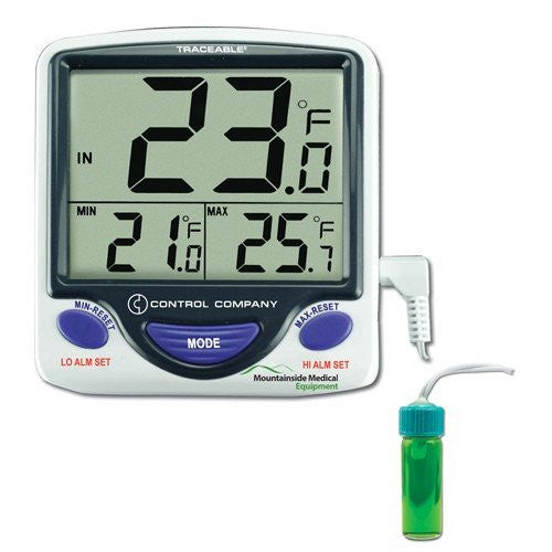 Traceable Jumbo Display Refrigerator/Freezer Thermometer - Refrigerator Thermometers - Mountainside Medical Equipment