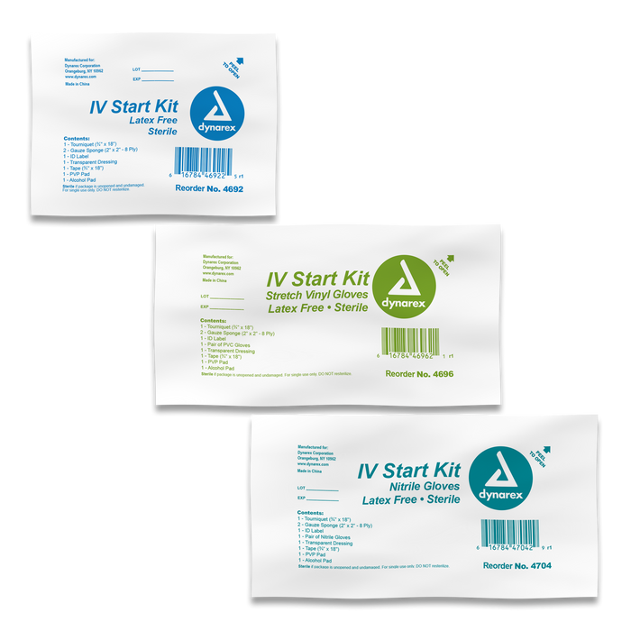 IV Start Kit with Tegaderm, Tourniquet, Tape & Prep Pads - IV Start Kit - Mountainside Medical Equipment