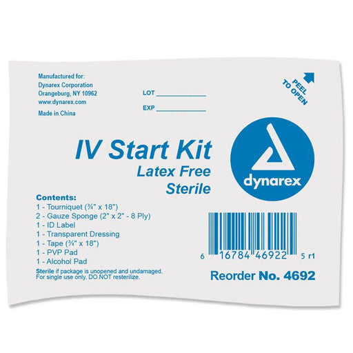 IV Start Kit with Tegaderm, Tourniquet, Tape & Prep Pads - IV Prep Kit - Mountainside Medical Equipment