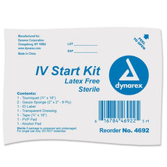 Buy IV Start Kit with Tegaderm, Tourniquet, Tape & Prep Pads by Dynarex | SDVOSB - Mountainside Medical Equipment
