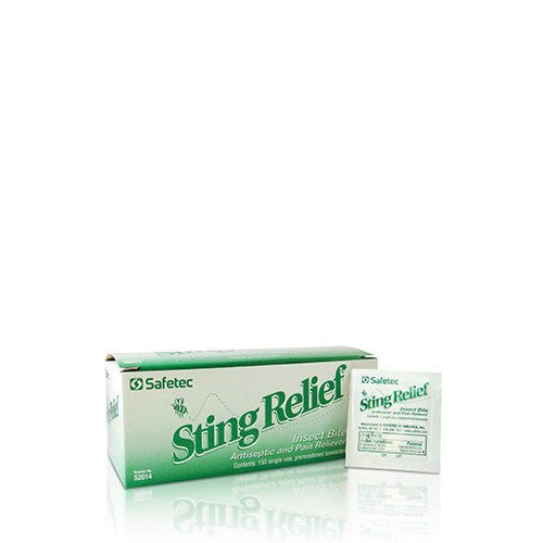 Sting Relief Mini Premoistened Wipes 150/box - First Aid Supplies - Mountainside Medical Equipment