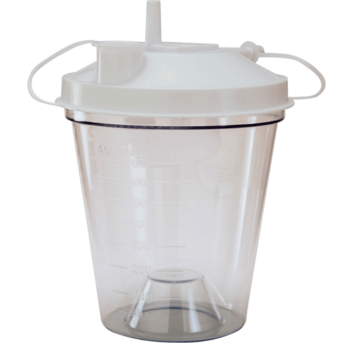 800cc Disposable Suction Canister with Universal Port