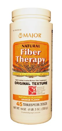 Buy Major Pharmaceuticals Natural Fiber Therapy, Original Texture, Orange Flavor online used to treat Laxatives - Medical Conditions