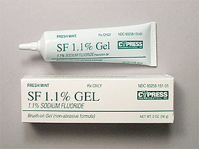 Sodium Fluoride Brush-on Gel Toothpaste, Mint - Enamel Protection - Mountainside Medical Equipment