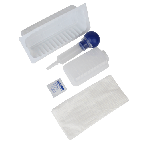 Bulb Irrigation Tray with 60cc Syringe, Sterile - Irrigation Solution - Mountainside Medical Equipment