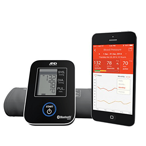 Wireless Bluetooth Blood Pressure Monitor for Mobile Blood Pressure Units by A & D Medical | Medical Supplies