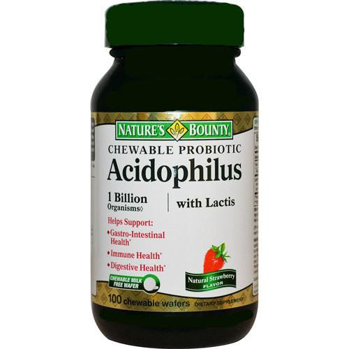 Acidophilus Probiotic for Digestive Health Chewable,100 Count