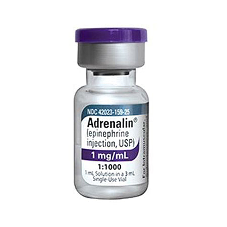 Adrenalin Epinephrine Injection 1mg (1:1000) Vial (1 Each)
