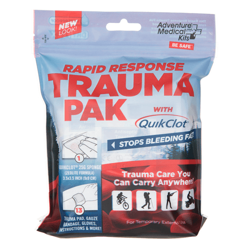 Rapid Response Trauma Pak Medical Kit with QuikClot Bleeding Sponge - First Aid Supplies - Mountainside Medical Equipment