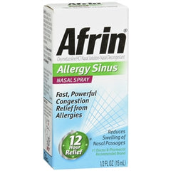 Buy Afrin Sinus Nasal Spray, 15 ml online used to treat Cold and Flu - Medical Conditions