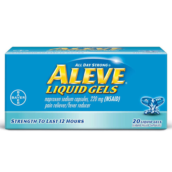 Aleve All Day Strong Pain Reliever Liquid Gel Capsules 220 mg (20 Count) - Over the Counter Drugs - Mountainside Medical Equipment