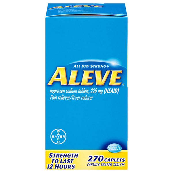 Aleve Pain Reliever Naproxen Sodium, 220mg (NSAID) 270 Bulk Pack