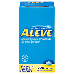 Buy Aleve Pain Reliever Naproxen Sodium, 220mg (NSAID) 270 Bulk Pack online used to treat Pain Reliever Medicine - Medical Conditions