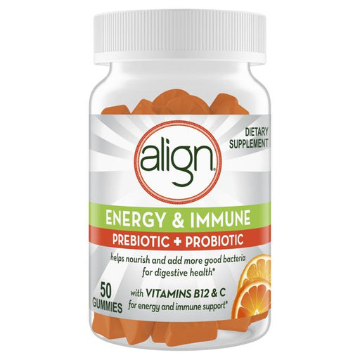 Align Energy & Immune Prebiotic & Probiotic Gummies 50 Count - Prebiotic and Probiotic - Mountainside Medical Equipment