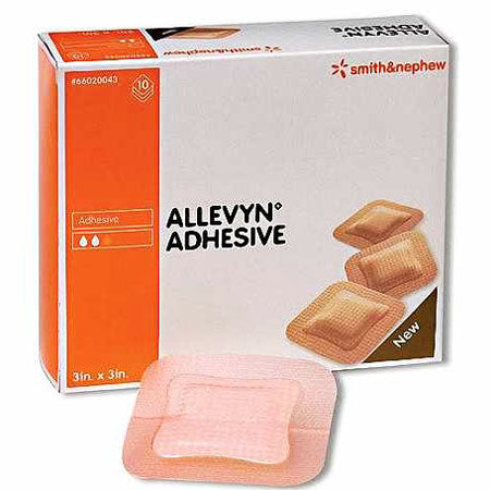 10-Pack Allevyn Adhesive Dressings - Foam Wound Care Dressing - Mountainside Medical Equipment