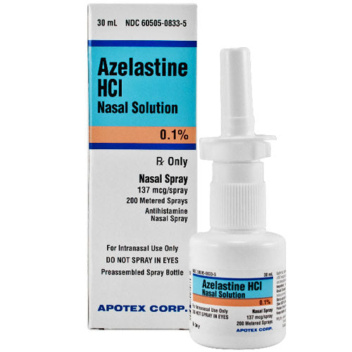 Apotex Azelastine Allergy Relief Nasal Spray - Allergy Relief Spray - Mountainside Medical Equipment