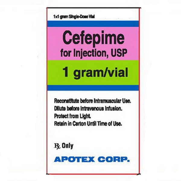 Cefepime for Injection, 1 Gram Vial
