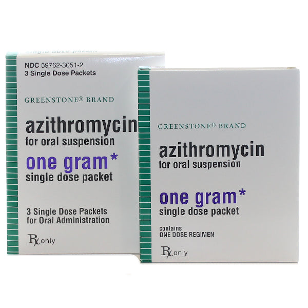Azithromycin Oral Suspension Single Dose Packets 1 gram (3 Each)