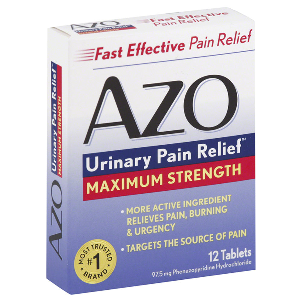 Buy AZO Urinary Pain Relief Maximum Strength Tablets, 24 Count online used to treat Urinary Tract Infection Relief Medicine - Medical Conditions
