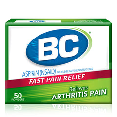 Buy BC Arthritis Pain Relief Powder, 50 Packets online used to treat Arthritis Pain Relief - Medical Conditions