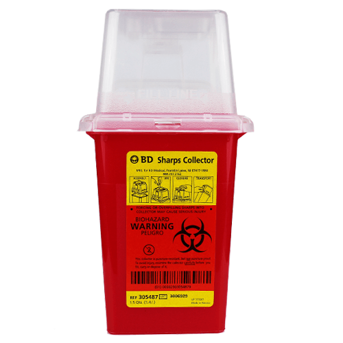 BD 305487 Sharps Container, Dual Access 1.5 Quart - Sharps Containers - Mountainside Medical Equipment