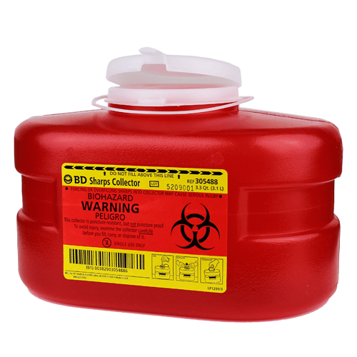 BD 305488 Sharps Collector 3.3 Quart - Sharps Containers - Mountainside Medical Equipment