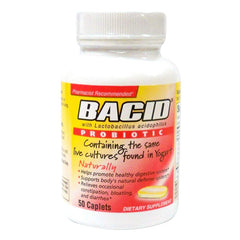 Bacid Probiotic Caplets for Digestive Health