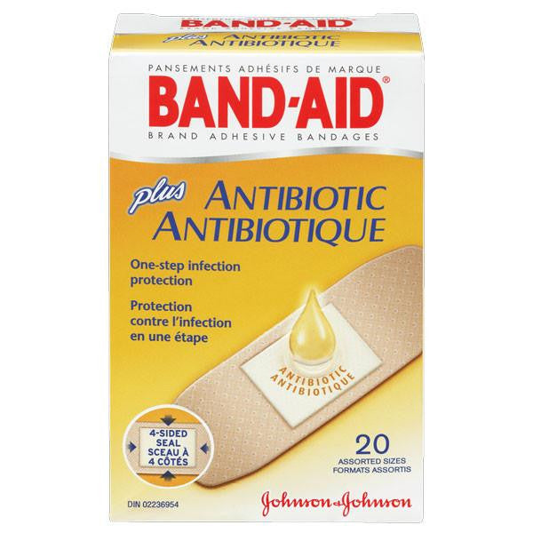 Buy Band-Aid Plus Adhesive Bandages with Neosporin Antibiotic Ointment online used to treat Adhesive Bandages - Medical Conditions